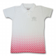 PLAYERA POLO BLANCA-ROSA